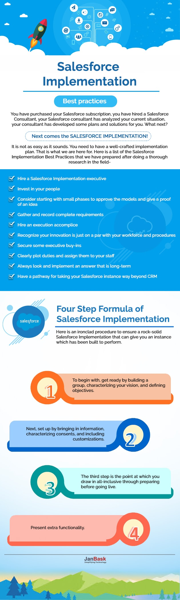 Infographic Salesforce Implementation- Best practices