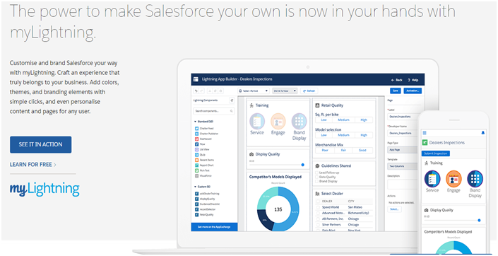 Understanding the customization and development of apps with the help of Salesforce Lightning