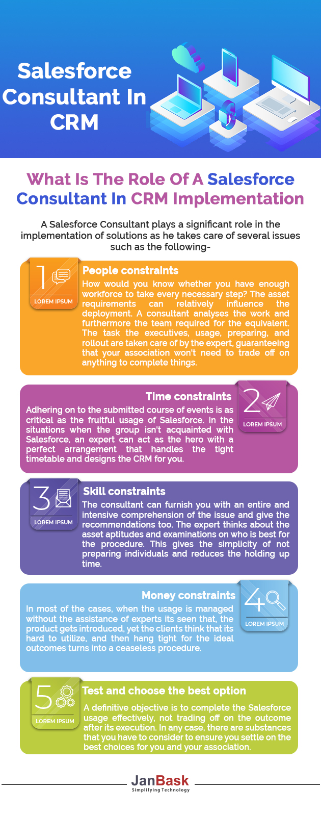 Infographic What Is The Role Of A Salesforce Consultant In CRM Implementation