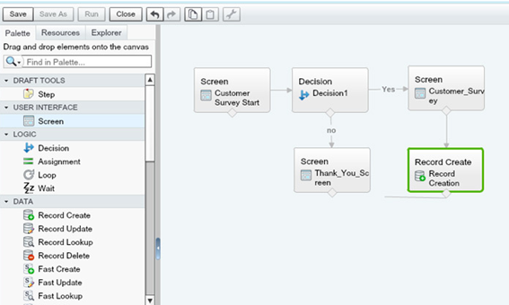 Create Surveys by Salesforce Visual Workflows