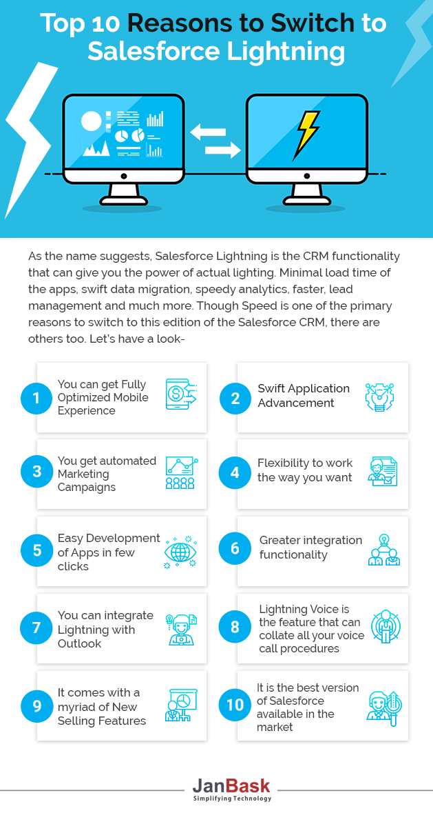 infographic Top 10 Reasons to Switch on the Salesforce Lightning