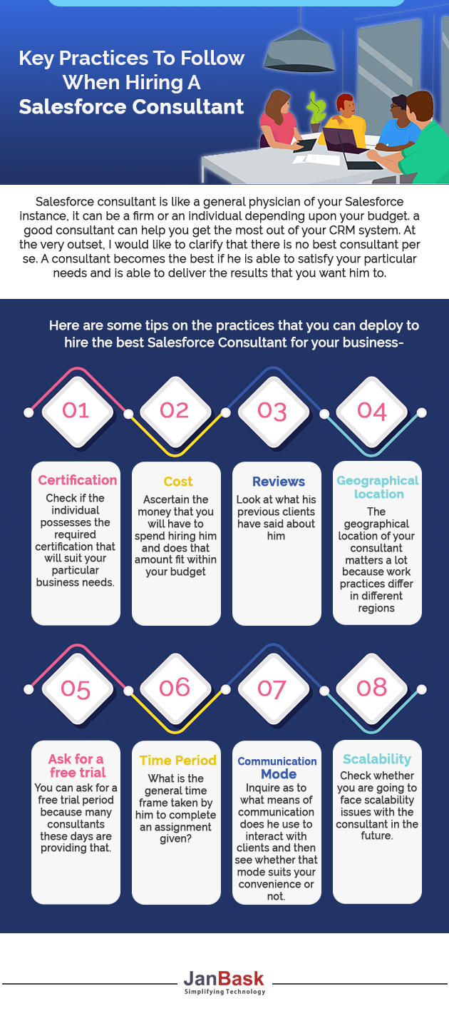 Infographic Key Practices To Follow When Hiring A Salesforce Consultant