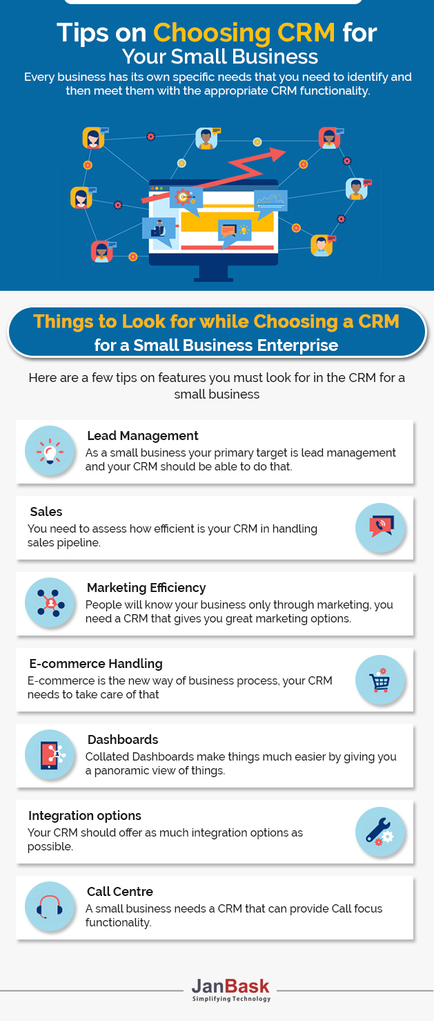 infographic - Tips on Choosing the Right CRM Solution for Small Business