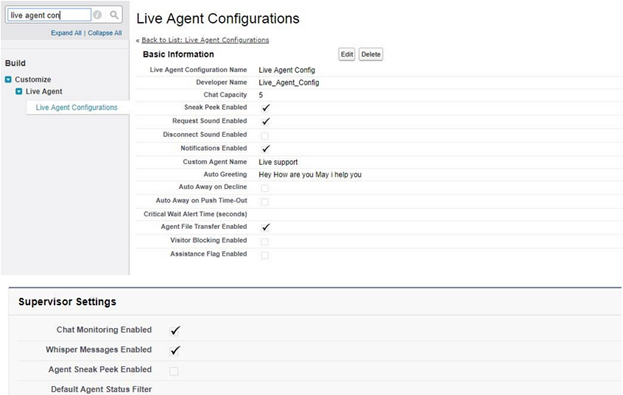 Configuring Live Chat Agents