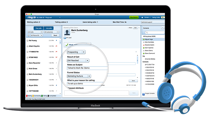 Salesforce for call centre management